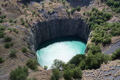 Kimberley Big Hole 2. The Kimberley big hole is reputed to be the biggest man made hole Royalty Free Stock Image