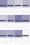Kimberly e a baía do leste coloriram o calendário geométrico 2016 dos testes padrões ilustração do vetor
