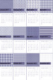 Kimberly en van het oosten baai kleurde geometrische patronenkalender 2016 Stock Afbeelding