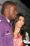 Kimberly Kardashian, Reggie Μπους στοκ εικόνες με δικαίωμα ελεύθερης χρήσης
