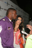 Kimberly Kardashian, Reggie Bush Fotografia de Stock Royalty Free