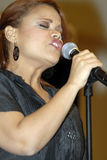 Kimberly Locke appearing live. Kimberly Locke performing live in an in-store appearance at Borders in Hollywood on May 1 2007 Royalty Free Stock Photos