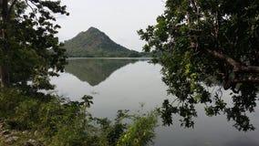 Kimbulwana湖在斯里兰卡 免版税库存图片
