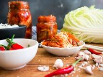 Kimchi, παραδοσιακά κορεατικά τρόφιμα στοκ εικόνα με δικαίωμα ελεύθερης χρήσης