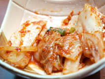 Kimchi. Traditional Korean spicy vegetable Royalty Free Stock Image