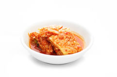 Kimchi. In a white bowl (Banchan Royalty Free Stock Photo
