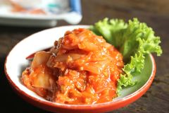 Kimchi, alimento coreano Fotos de Stock Royalty Free