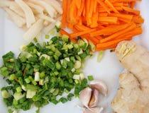 Kimchi-Bestandteile Lizenzfreie Stockbilder