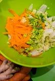 Kimchi casalingo in una foto dell'alimento del barattolo Immagine Stock Libera da Diritti