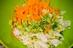 Kimchi caseiro em uma foto do alimento do frasco Fotografia de Stock