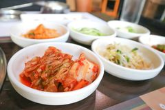 Chinese cabbage salad or Korean salad Stock Images