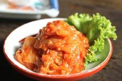 Kimchi, comida coreana Fotos de archivo libres de regalías