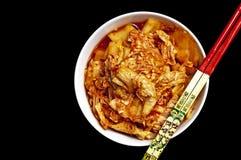 Kimchi con la spezia di kimchi Immagine Stock Libera da Diritti