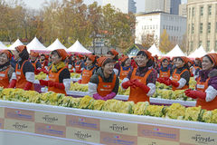 Kimchi danandefestival, Seoul Korea Royaltyfri Foto