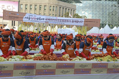 Kimchi danandefestival, Seoul Korea Arkivfoton