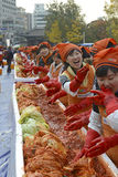 Kimchi danandefestival, Seoul Korea Arkivbild
