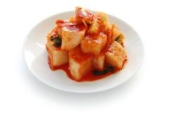 Kimchi del rábano, alimento coreano fotografía de archivo
