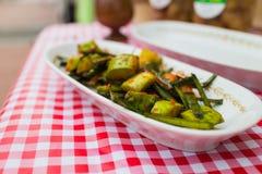 Kimchi dello zucchini sul piatto Fotografia Stock Libera da Diritti