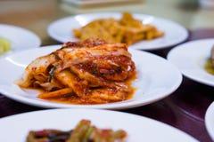 Kimchi. A dish of kimchi in a korean restaurant Stock Photography