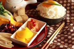 Kimchi ed uovo Fotografia Stock