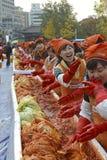 Kimchi faisant le festival, Séoul Corée Photographie stock