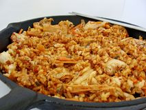 Kimchi fried rice. Korean dish with kimchi and rice Stock Image