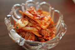 Kimchi. In a glass bowl Royalty Free Stock Photography