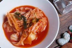 Kimchi grönsakmat i Korea matmeny Royaltyfri Foto