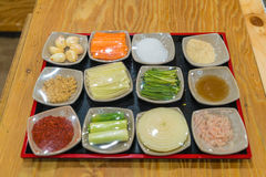 Kimchi ingredient  pickle group. Korean food Stock Photo
