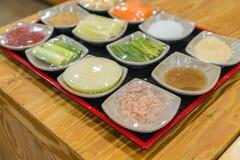 Kimchi ingredient  pickle group. Korean food Stock Images