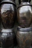 Kimchi jars. Royaltyfria Bilder