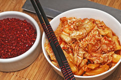 Kimchi with kimchi spice Royalty Free Stock Images