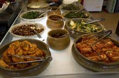 Kimchi in Korean buffet restaurant stock photos