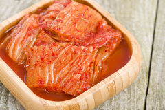 Kimchi. Korean fermented spicy nappa cabbage side dish Royalty Free Stock Image
