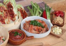 Kimchi of korean food traditional. Royalty Free Stock Images