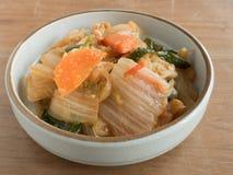 `Kimchi`: Korean traditional fermented vegetables. Korean sidedish `Kimchi`: a traditional fermented vegetables Stock Photos