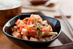 Kimchi - Korean traditional pickles Stock Photos