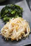 Kimchi koreanische seitliche Teller Stockbild