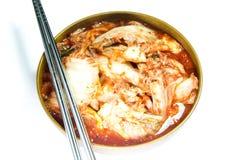 Kimchi koreanmat Arkivfoto