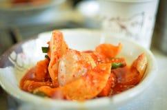 Kimchi lokal mat i Korea Royaltyfri Foto