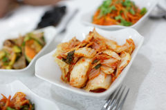Kimchi on the plate Royalty Free Stock Photography
