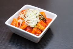Kimchi salad of korean food traditional. Cooking in Korean Style. Korean Cuisine Royalty Free Stock Photo