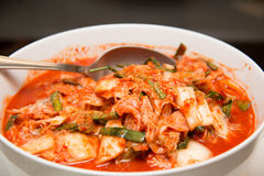 Kimchi salad Korean traditional food Royalty Free Stock Images