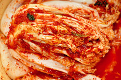 Kimchi. Salted cabbage in korean style royalty free stock images