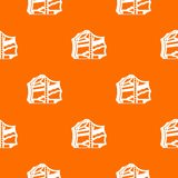 Kimchi, traditional korean food pattern seamless. Kimchi, traditional korean food pattern repeat seamless in orange color for any design. Vector geometric Royalty Free Stock Image