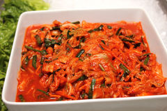 Kimchi is a very popular Korean dish Stock Photo
