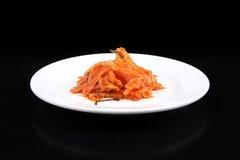 Kimchi on white plate - Series 4 Stock Photo