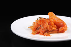 Kimchi on white plate - Series 2 Royalty Free Stock Images