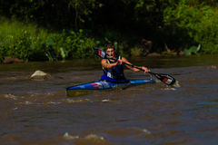 Kime Paddling Canoe Race Royalty Free Stock Images