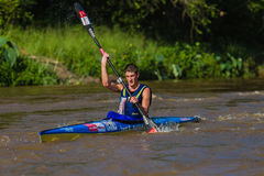 Kime Winner Dusi Canoe Race Royalty Free Stock Images